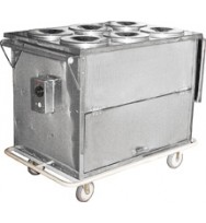 Carro Térmico para Transporte de Alimentos com 06 Recipientes - MD059